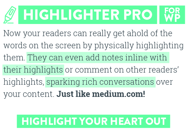 Highlighter Pro: A Medium.com-Inspired Text Highlighting and Inline Commenting Tool for WordPress (Interface Components)